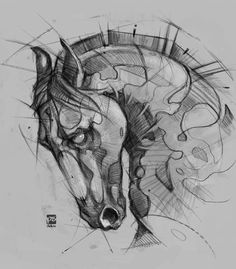 The typographic poster by Manolo Guerrero - drawingeasy. Animal Sketches, Drawing Sketches, Sketch Art, Sketch Tattoo, Tattoo Art, Horse Drawings, Animal Drawings, Fantasy Drawings, Pencil Art Drawings