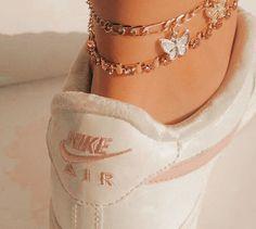 Stylish Jewelry, Cute Jewelry, Jewelry Accessories, Fashion Jewelry, Women Jewelry, Ankle Jewelry, Ankle Bracelets, Souliers Nike, Moda Sneakers