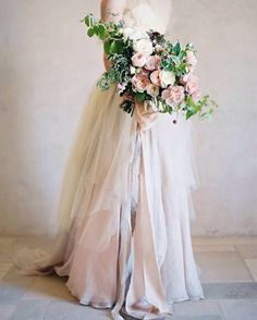 Earthy and Elegant Rustic Wedding Palette Earthy and Romantic Bridal Style with a Loose Garden Bouquet Bouquet Bride, Wedding Bridesmaid Bouquets, Pink Bouquet, Wedding Dresses, Elegant Wedding, Floral Wedding, Rustic Wedding, Wedding Flowers, Flower Girl Dress