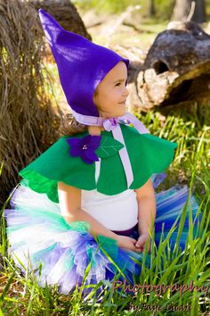 Violet the Garden Gnome tutu costume set by louloututu on Etsy
