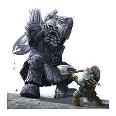 Dactyl (Greek) - These metal dwarven golems started out as normal Dvergr, but they became obsessed with replacing their own flesh with metal parts, eventually becoming a full construct. They are now mindless constructs that guard Dvergr cities and crush anyone that gets in the Dvergr's way.