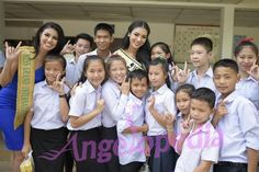 Ariska Putri and Supaporn Malisorn visit The School for the Deaf in Vientiane