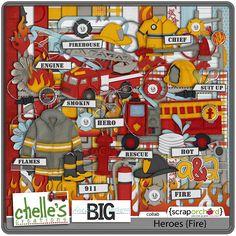 Digital Scrapbook Bundle - Heroes {Super Bundle} l Chelle's...