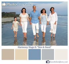 """What to wear for family photos. THINK HARMONY WITHOUT """"MATCHY-MATCHY""""  Good Examples."""