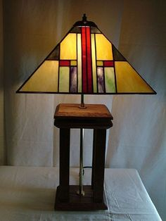 Image result for arts and crafts style square stained glass lampshade