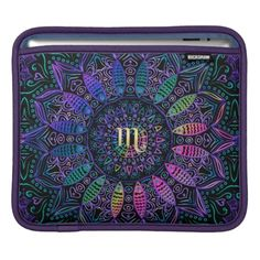 Zodiac Sign Scorpio #Mandala #iPad Sleeve  #Scorpio #zazzle
