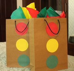 Cute idea for gift bags for James' transportation party.