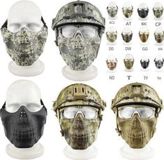 Honey 2018 Outdoor War Games Cs Paintball Skull Party Half Face Mask Tactical Camouflage Hunting Mask Home
