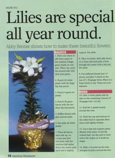 Easter Lilies - downloadable instructions