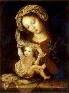 Mabuse (Jan Gossaert), madonna and child with cherries
