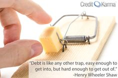 Today's #money quote features a clever analogy about #debt.