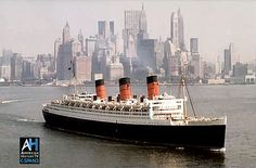 RMS Queen Mary~ my first trans-Atlantic crossing was on the Queen Mary. We returned on the Elizabeth.