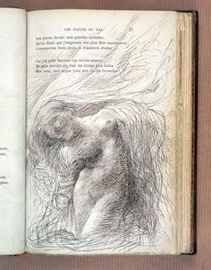 Auguste Rodin (French, 1840-1917) Illustrations for Charles Baudelaire's Fleurs du Mal, circa 1887. Fuck Yeah, Book Arts! (hideback: Auguste Rodin (French, 1840-1917) ...)