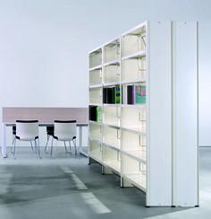 ABC - Estante metálica para biblioteca.