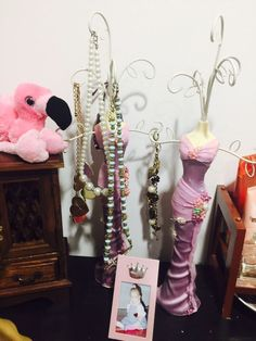 Jewelry Doll Organizer Stand Approx 10 Tall Dolls and Products