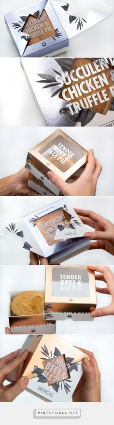 Eden & Bridge Luxury Pie — The Dieline - Branding & Packaging Design... - a grouped images picture - Pin Them All
