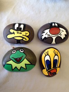 Hand painted stones just some friends SNS DESIGNS