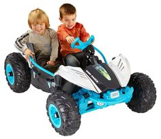Kids Dune Racer Ride On Car Buggy Toys Truck 12V Battery Chrome Power Wheels  #FisherPrice