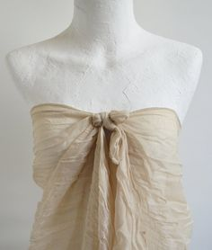 ESE Fashion Accessories Cream Scarf Beige Scarf by ESEHandMade, $22.50