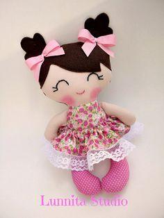 Handmade cloth doll,Girl gift,Ragdoll,Cloth doll,Fabric doll...Eco-Friendly…