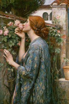 Bild:  John William Waterhouse - Die Seele der Rose