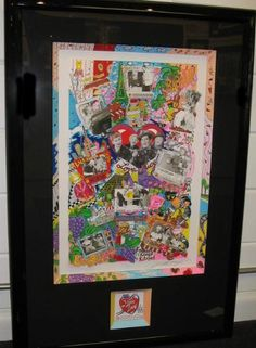 """""""For the Love of Lucy"""" by Charles Fazzino framed with our special framing!"""