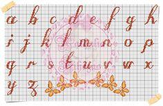 Apaixonada por Ponto Cruz: Monograma Borborletas By Vihégas