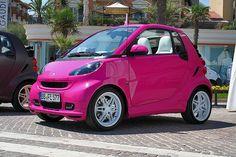 Pink SmartCar