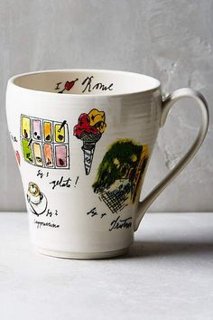 City Vignette Mug - anthropologie.com