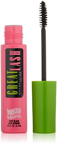 Maybelline Great Lash Waterproof Mascara, Very Black [111], 0.43 oz (Pack of 10) ** Continue to the product at the image link.