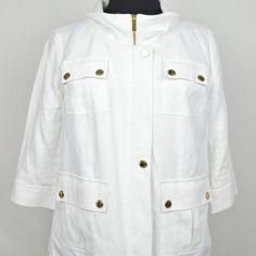 Michael Kors Jacket White Linen Michael Kors Jackets & Coats Blazers