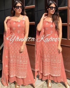 Online shopping for women Salwar Suits Indian. Latest collection of Anarkali, party wear, casual wear, Punjabi at cheap price Party Wear Indian Dresses, Dress Indian Style, Indian Wedding Outfits, Indian Outfits, Indian Weddings, Stylish Dress Designs, Beautiful Dress Designs, Stylish Dresses, Stylish Clothes