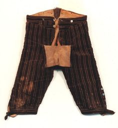 Einzelobjektansicht | Museen Schleswig - Holstein & Hamburg Leather lined riding breeches.