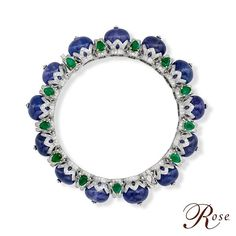 Presenting this beautiful bracelet from The House of Rose adorned with round…