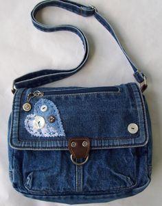 Denim Purse Denim Bag Vintage Recycled by GrannysRecycledRags