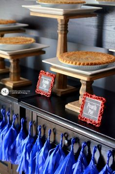 Fourth of July Pie Bar Dessert Table | @michaelsstores #michaelsmakers #party