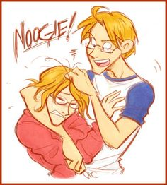They are cute! Come on they would be such great brothers to have! -- Hetalia America Alfred f. Jones & Canada Matthew Williams North American brothers