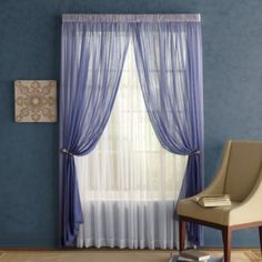 Bedroom window dressing Bedroom Window Dressing, Window Dressings, Layers, Blue And White, Windows, Curtains, Color, Decoration, Home Decor