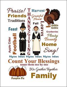 Download Thanksgiving Subway Art ~ print and frame