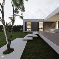 hunter House Design Visualization monoarchitects Location via my good friend Dream Home Design, Modern House Design, Contemporary Design, Modern Architecture House, Interior Architecture, Modern Architects, Mansions Homes, Dream House Exterior, Facade House
