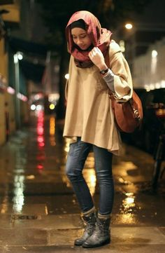 Koleksi Mix and Match Baju Muslim Casual Modis Terkini 2016 Islamic Fashion, Muslim Fashion, Modest Fashion, Hijab Fashion, Love Fashion, Fashion 101, Fashion Ideas, Fashion Inspiration, Casual Hijab Outfit