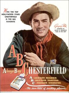 Gregory Peck for Chesterfield (1947)