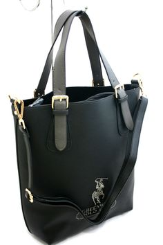 Borsa Shopping Tracolla Greenwich Polo Club Art098-2T Ecopelle effetto saffiano