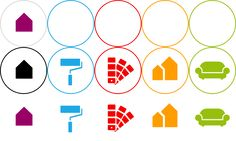 Starke Farben für starke Kids: Caparol Design Studio, Binder, Symbols, Peace, Pastel, Serenity, Book Folding, Cleaning, Trapper Keeper