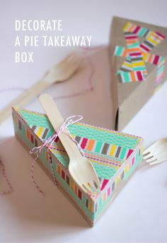 DIY pie box wedding favors / party favors