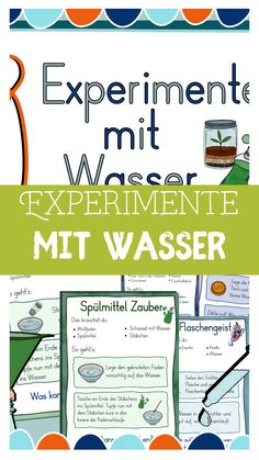 8 experiments with water - research in primary school Science Topics, Easy Science Experiments, Science Activities For Kids, Green Crafts For Kids, Diets For Beginners, Primary School, Kids Learning, Homeschool, Stephen Curry