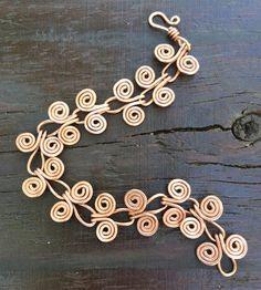 Shiny Raw Copper Bracelet - Customizable Egyptian Coil Wire Bracelet - Unique Artisan Jewelry Gifts for Her Copper Necklace, Copper Bracelet, Copper Jewelry, Wire Jewelry, Jewelry Gifts, Handmade Jewelry, Copper Wire, Wire Bracelets, Jewelry Shop