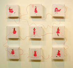『誰かにつながる赤い糸』シリーズ 展示風景