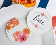 botanical garden wedding favor coasters