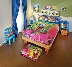 spongebob lightweight bedding set twin - Spongebob Bedroom Set